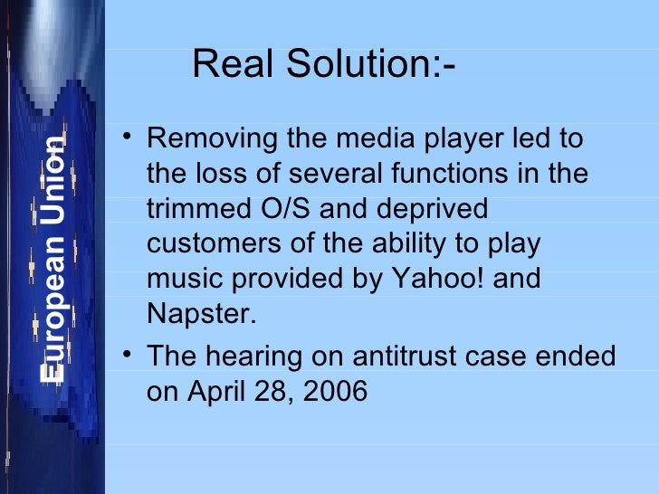 napster case solution The solution analyzes the napster case and includes the key facts and critical issues in some cases, r however, the culture and structure can change swiftly.