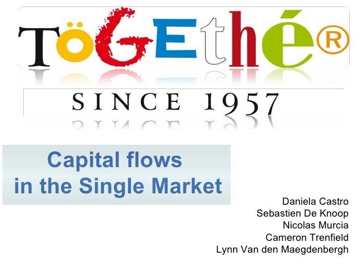 Daniela Castro Sebastien De Knoop Nicolas Murcia Cameron Trenfield Lynn Van den Maegdenbergh Capital flows  in the Single ...