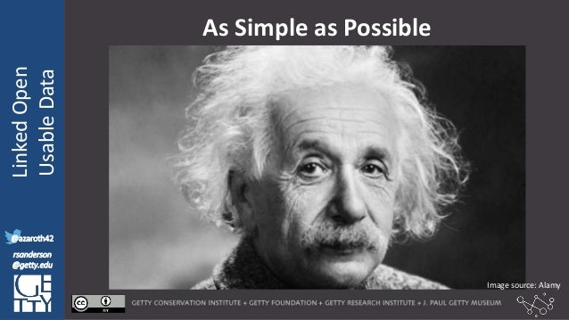 @azaroth42 rsanderson @getty.edu IIIF:Interoperabilituy LinkedOpen UsableData @azaroth42 rsanderson @getty.edu As Simple a...