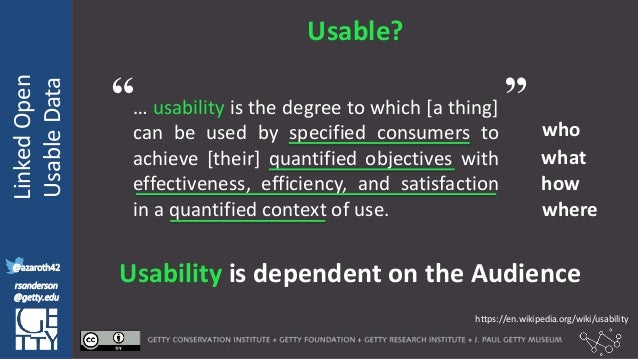@azaroth42 rsanderson @getty.edu IIIF:Interoperabilituy LinkedOpen UsableData @azaroth42 rsanderson @getty.edu Usable? … u...