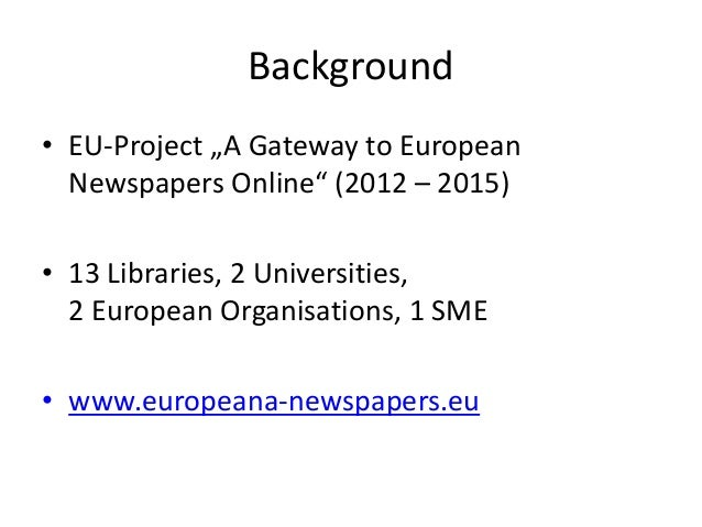 Europeana Newspapers Transcribathon Slide 2