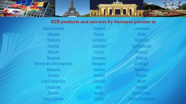 European B2B Marketplace for Manufacturers, Suppliers and