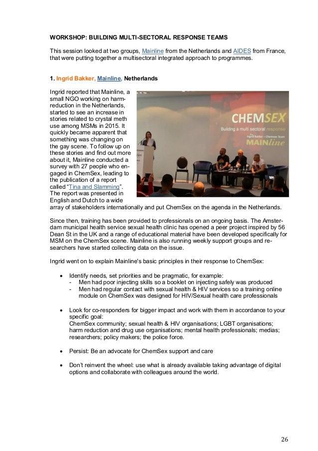 European ChemSex forum report 2018