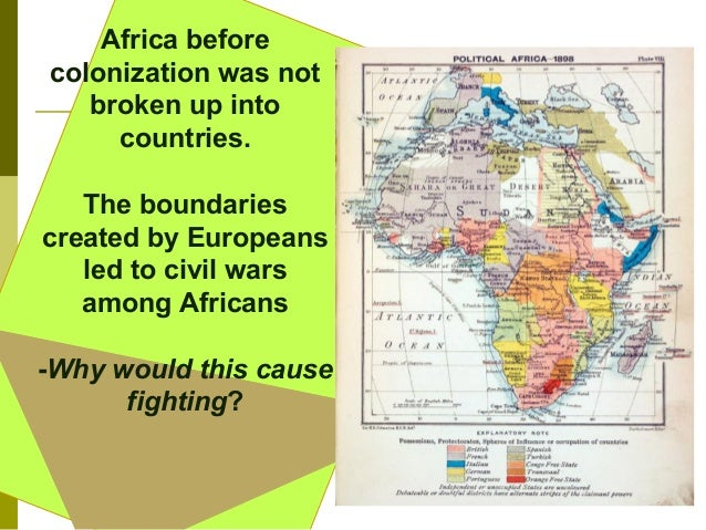 a paper on the colonization of africa Colonization of africa between the 1870s and 1900, africa faced european imperialist aggression, diplomatic pressures, military invasions, and eventual conquest and colonization.