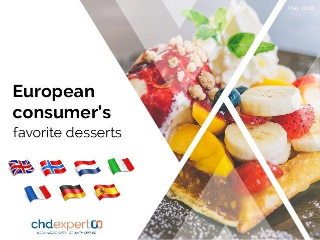 European consumer's favorite desserts May 2018 2