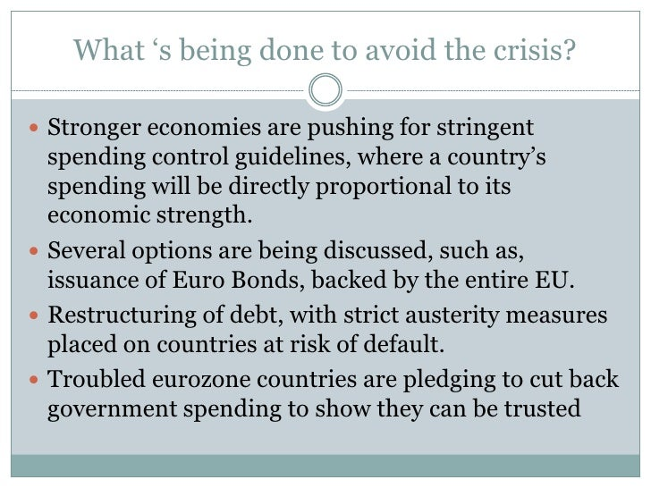 european debt crisis conclusion The sovereign debt crisis: a modern greek tragedy in greece and ireland a few years ago have magnified into europe's sovereign debt crisis in conclusion.
