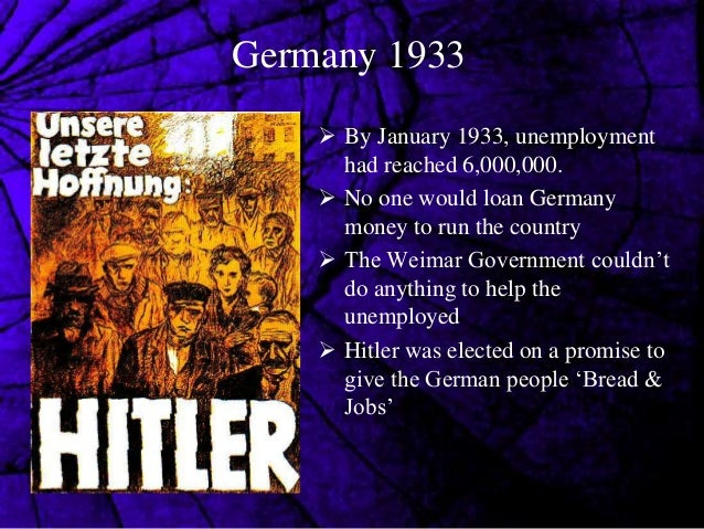 did the germans benefit from hitlers domestic polices of 1934 and 1939 Hitler and the nazis sort to control every part of public life, including  this  section will highlight the main policies the nazis used to control  from 1939,  the ss assumed control of nazi racial policy across occupied europe  men,  their job was to be mothers, organise the home and produce children for the ' master race.