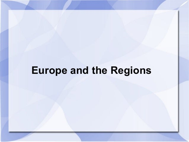 Europe and the Regions