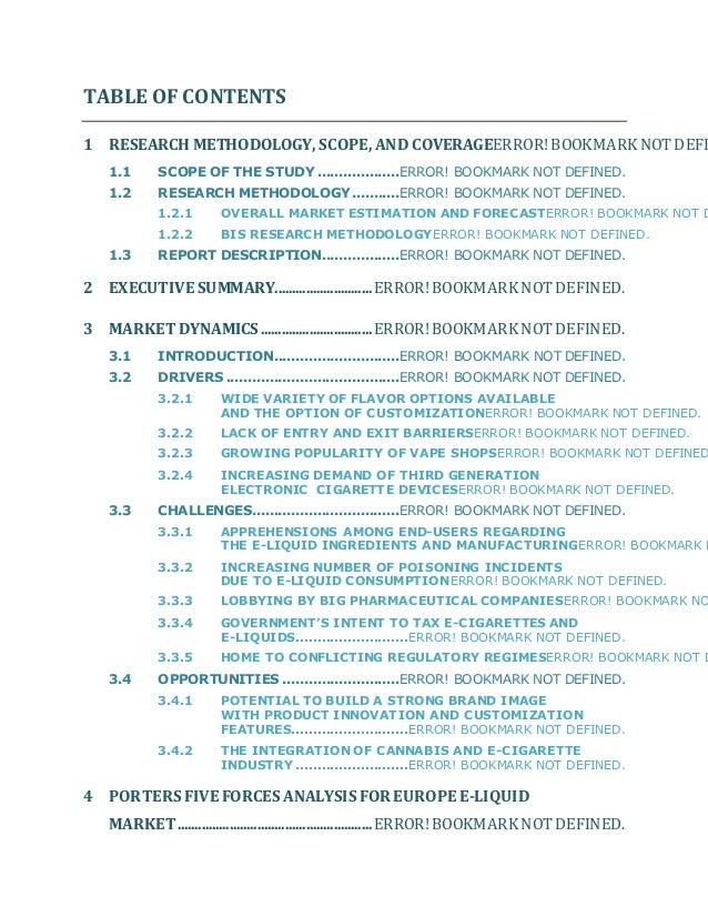 European e liquid market analysis-2015 to 2025
