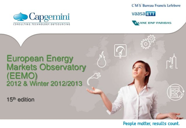 European Energy Markets Observatory (EEMO) 2012 & Winter 2012/2013 15th edition