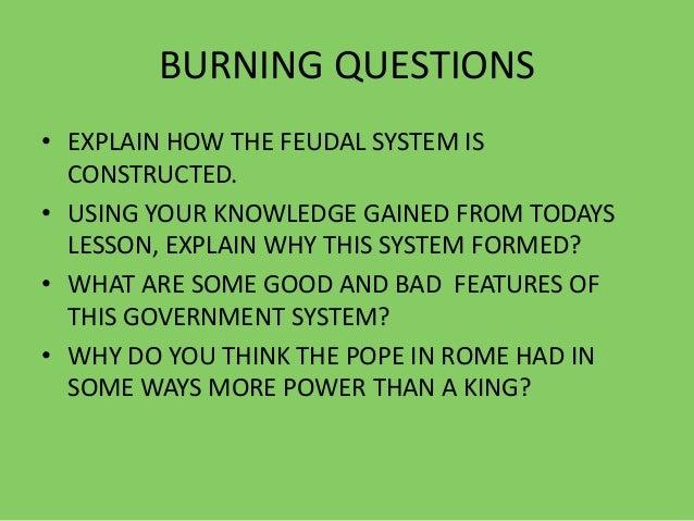 why was feudalism bad