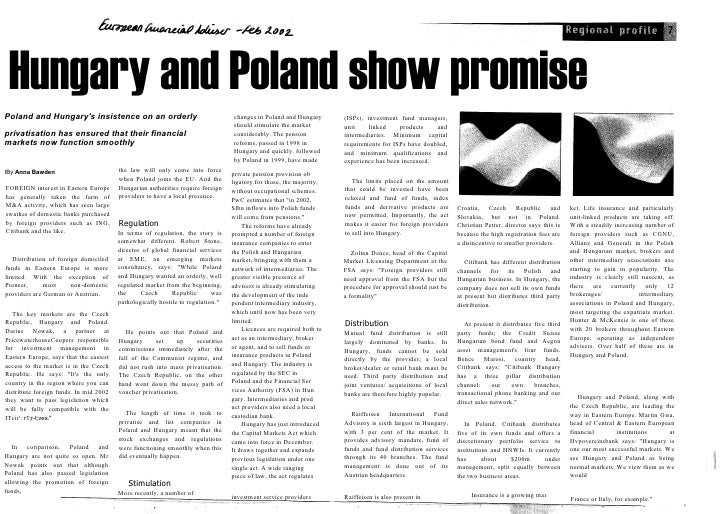 Hungary and Poland show promise Poland and Hungary's insistence on an orderly                                    changes i...