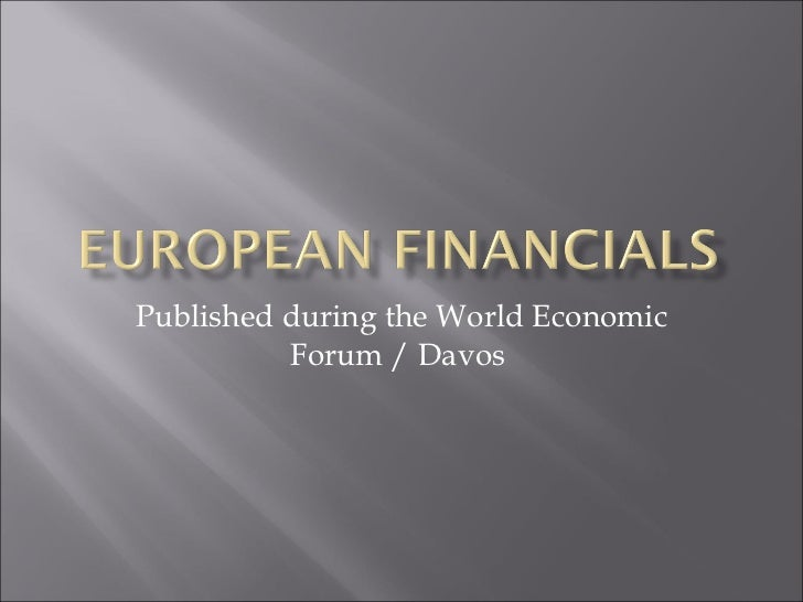 Published during the World Economic Forum / Davos