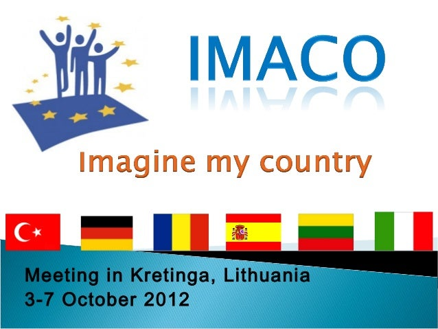 Meeting in Kretinga, Lithuania 3-7 October 2012