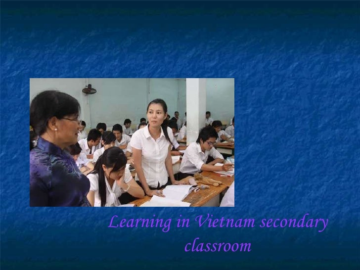 Learning in Vietnam secondary classroom