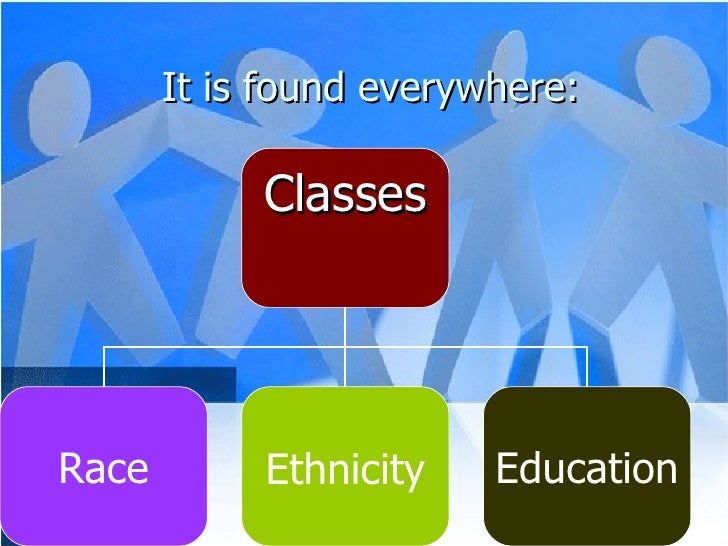 It is found everywhere: Classes Race Ethnicity Education