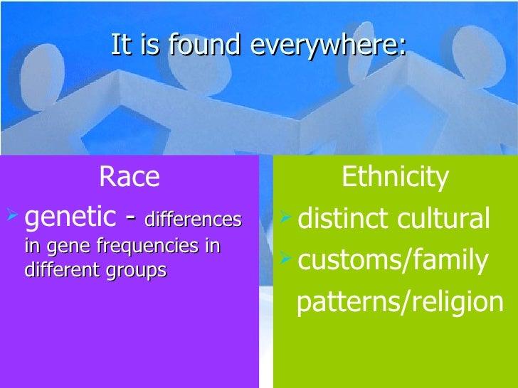 It is found everywhere: <ul><li>Race </li></ul><ul><li>genetic  -  differences in gene frequencies in different groups  </...