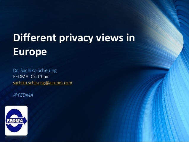 European Legal and Privacy Update with FEDMA Slide 3
