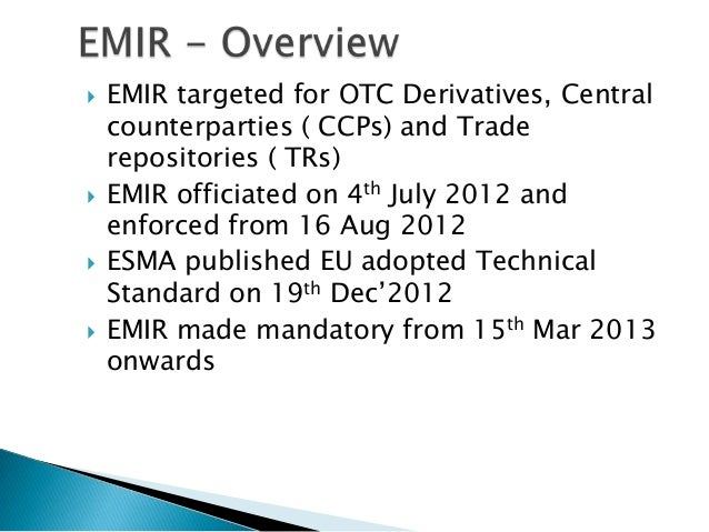 Esma electronic trading systems