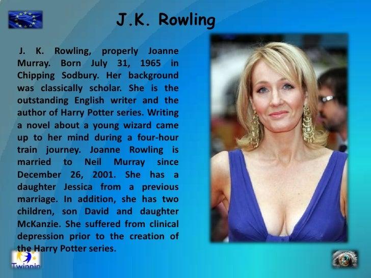 jk rowling biography powerpoint project