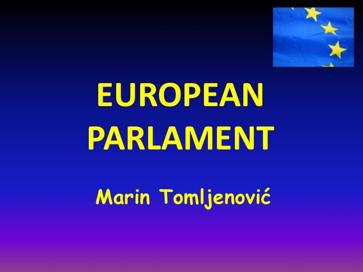 EUROPEANPARLAMENTMarin Tomljenović