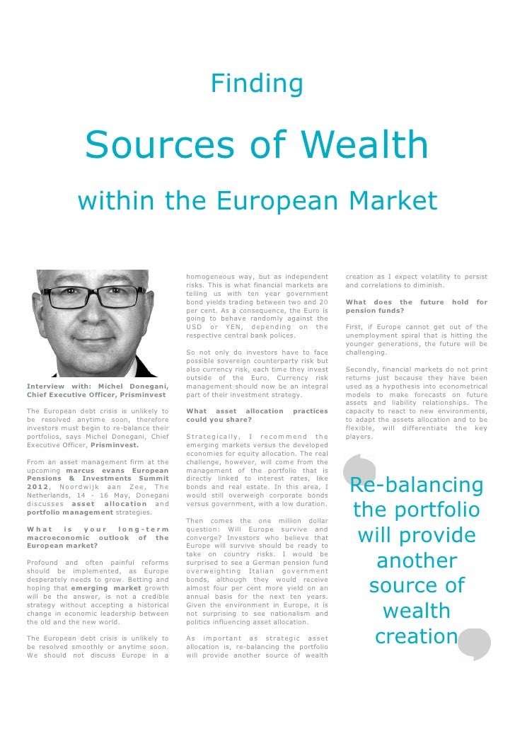 Finding                Sources of Wealth              within the European Market                                          ...