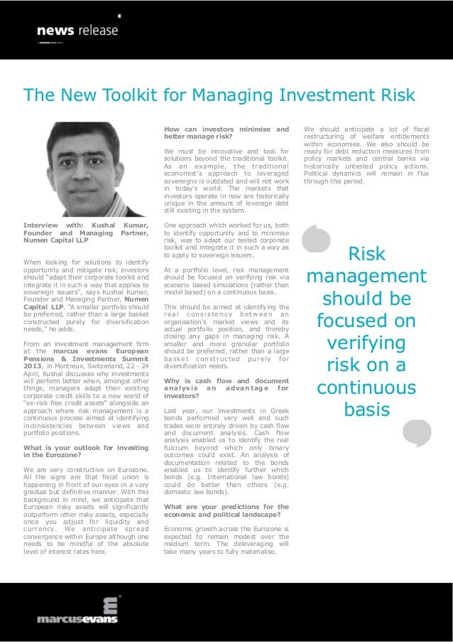 The New Toolkit for Managing Investment Risk                                             How can investors minimise and   ...