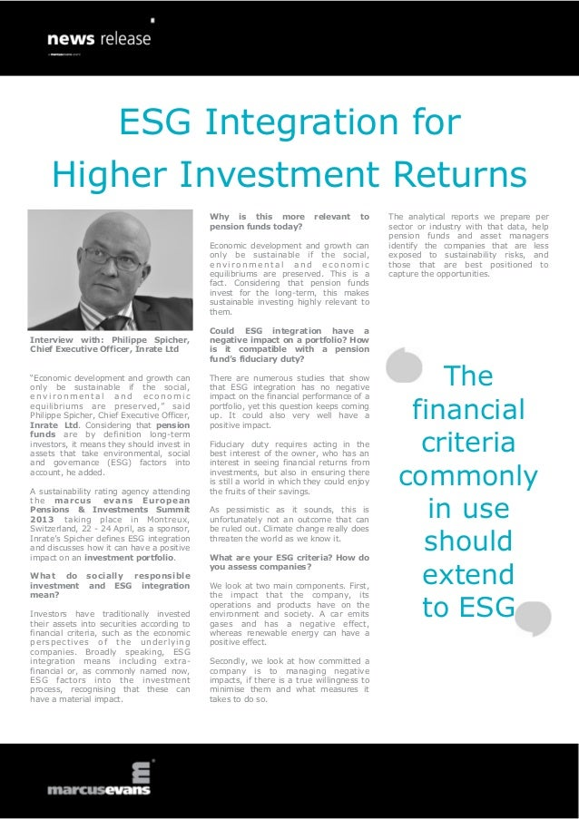 ESG Integration for     Higher Investment Returns                                             Why is this more           r...