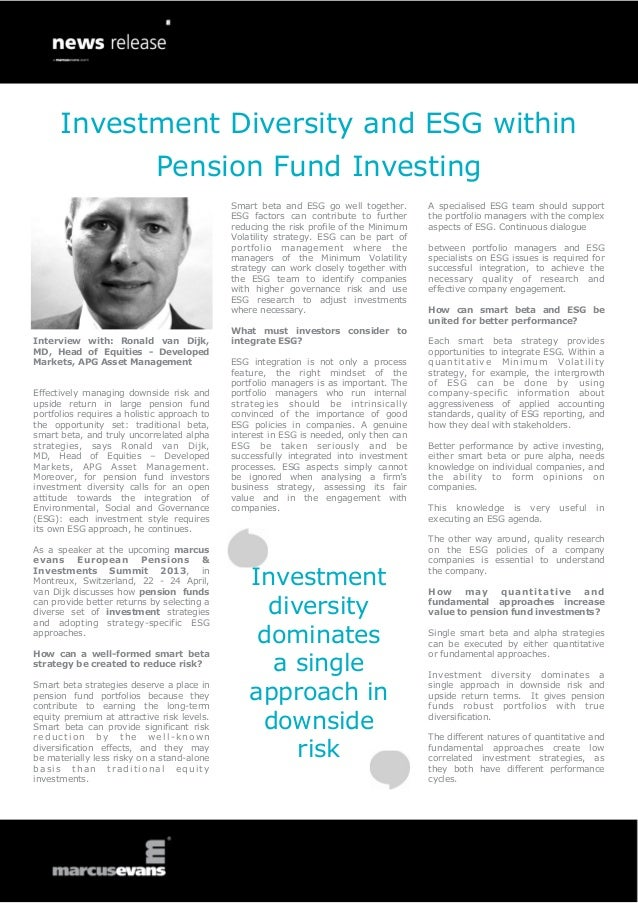 Investment Diversity and ESG within                             Pension Fund Investing                                    ...