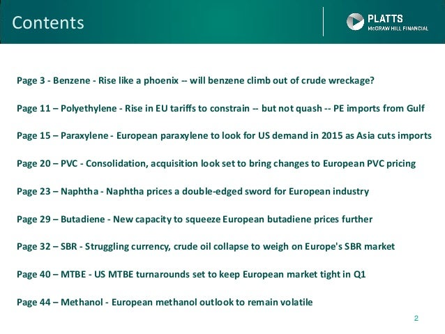 European petrochemicals outlook 2015