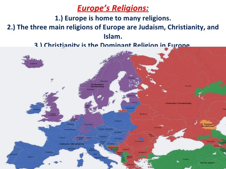 European Religions - The main religions