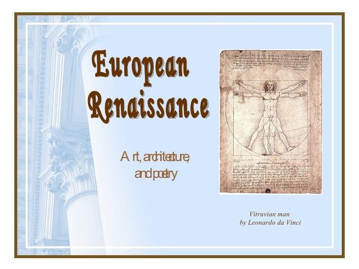 renaissance architecture in europe pdf