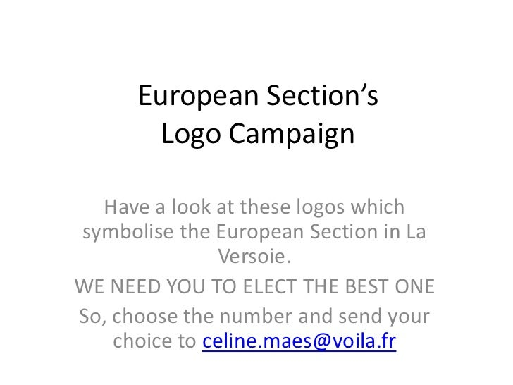 European Section's       Logo Campaign  Have a look at these logos whichsymbolise the European Section in La              ...
