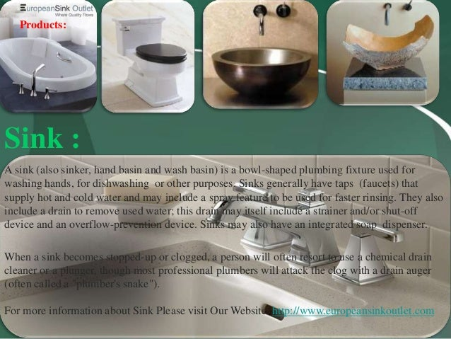 3. Products: Sink ...