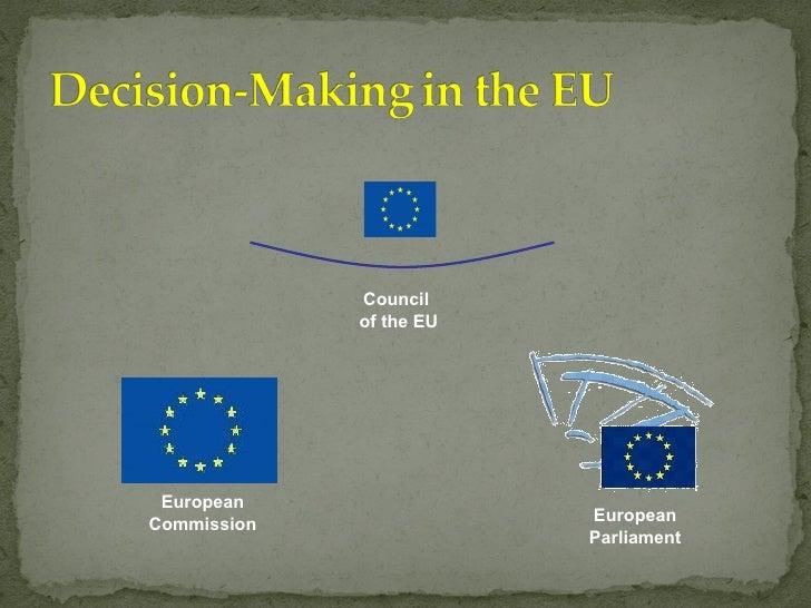 European Commission Council  of the EU European Parliament