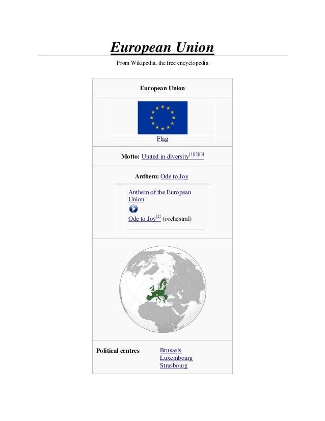 European Union        From Wikipedia, the free encyclopedia                    European Union                         Flag...