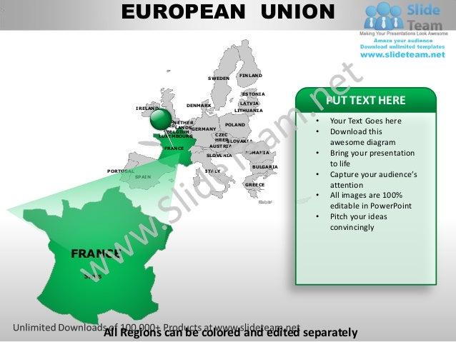 European union powerpoint editable continent map with countries templ european union toneelgroepblik Choice Image