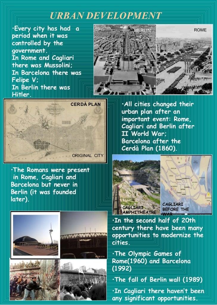 URBAN DEVELOPMENT <ul><li>Every city has had  a period when it was controlled by the government. </li></ul><ul><li>In Rome...