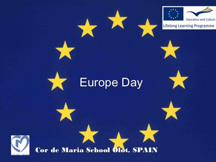 Europe DayCor de Maria School Olot, SPAIN