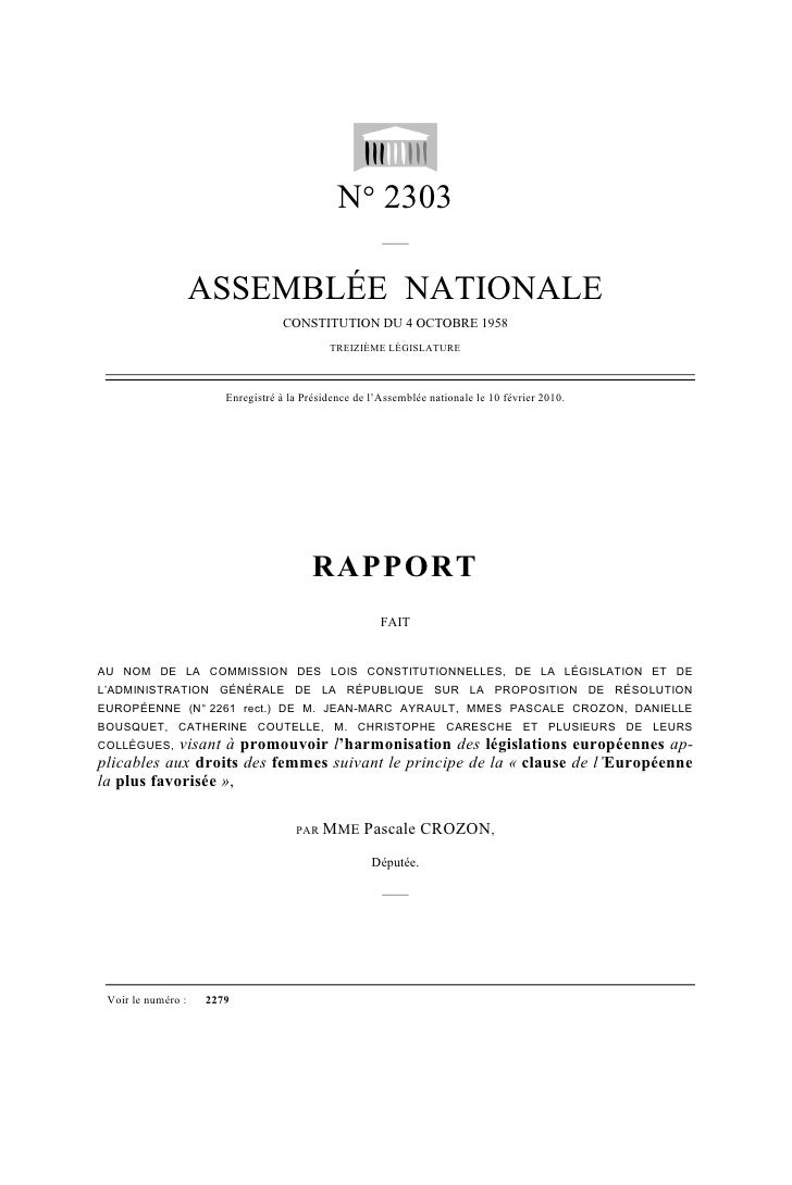 N° 2303                                                        ——                       ASSEMBLÉE NATIONALE               ...