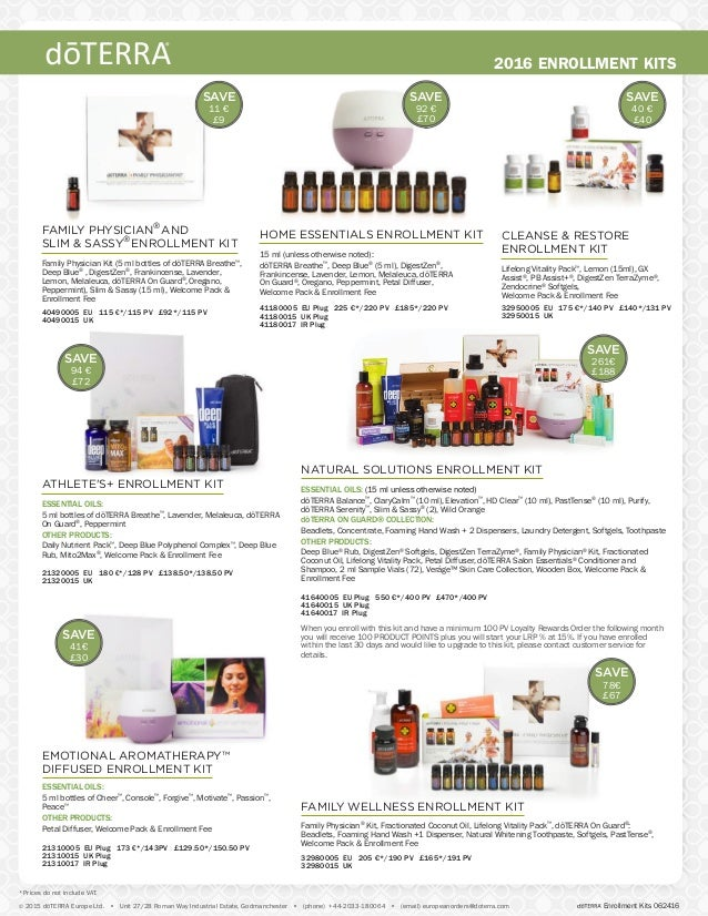 SAVE 78€ £67 ESSENTIAL OILS: (15 ml unless otherwise noted) dōTERRA Balance™ , ClaryCalm™ (10 ml),Elevation™ , HD Clear™ (...