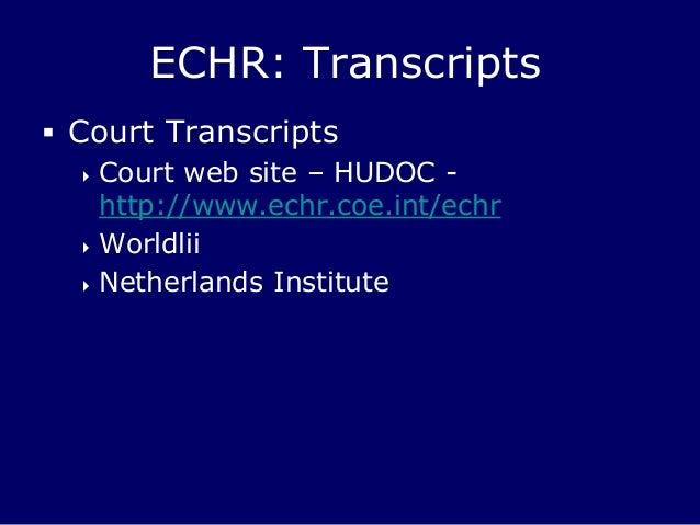 European Court of Human Rights  ECHR CEDH news
