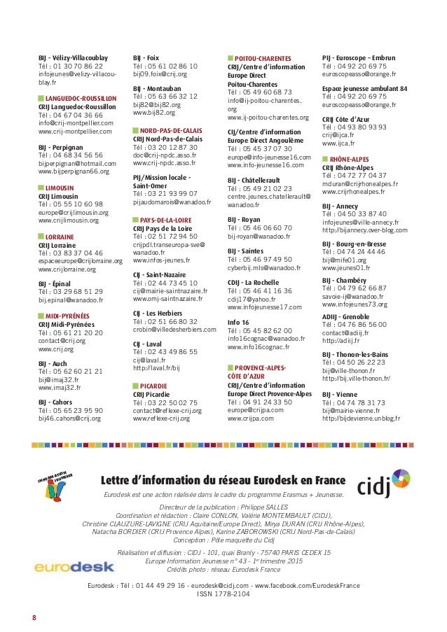 europe information jeunesse n 43 la lettre du r seau eurodesk en fr. Black Bedroom Furniture Sets. Home Design Ideas