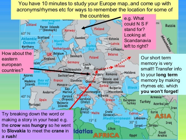 how to remember europe map Europe map quiz challenge