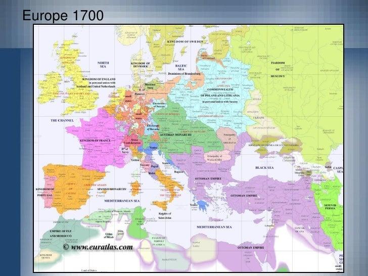 Europe 1600; 7.
