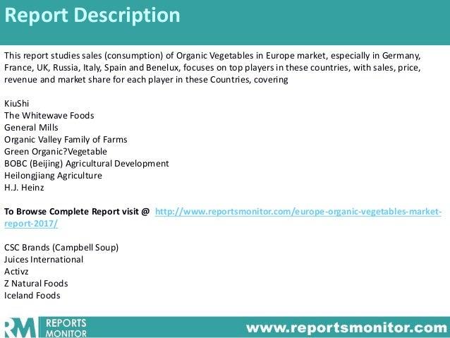 Organic Food Market Statistics