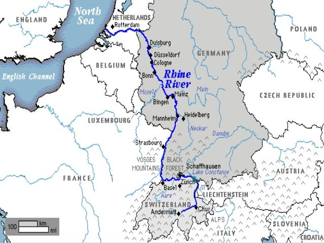 Europe Physical Features 2015: Rhine River Europe Map At Infoasik.co