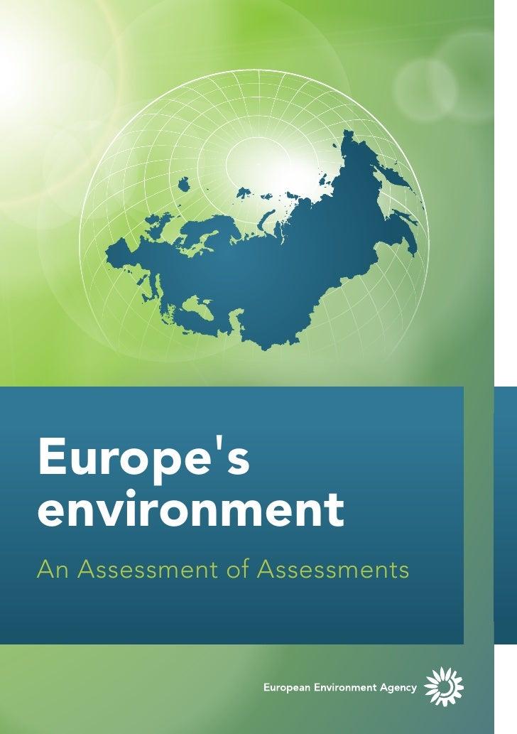 EuropesenvironmentAn Assessment of Assessments