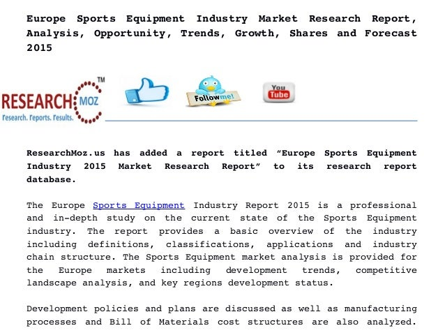 Europe Sports Equipment Industry Global Market Research ...