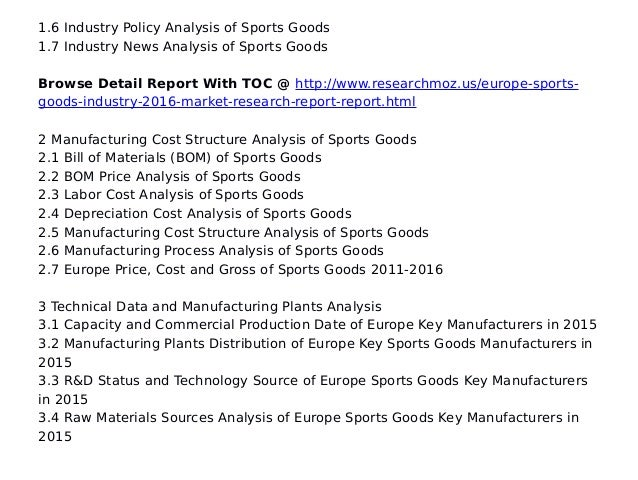 pest analysis sporting goods market Global sporting goods industry analysis  the worldwide sporting goods industry (which is a part of the consumer goods sector) is forecast to reach $303 billion by 2015, reports global industry analystsconsumer interest in sports has been steadily rising in recent years partly due to wider media coverage of sporting events, making sports popular with huge numbers of people, young and old.